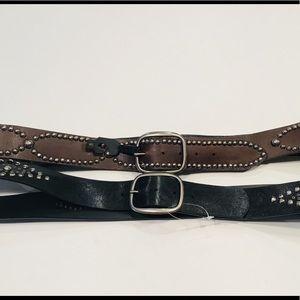 Torrid Studded Belts Brown & Black - NWOT - SZ 3